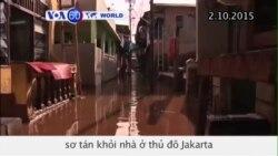 Người dân sơ tán khỏi nhà ở Jakarta vì mưa ngập (VOA60)