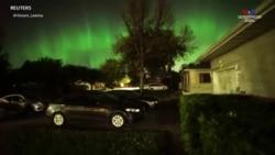 Հիասքանչ Ավրորան լուսավորում է Հյուսիսային Ամերիկայի գիշերային երկինքը