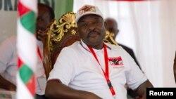 រូបឯកសារ៖ ប្រធានាធិបតីប៊ូរុនឌីលោក Pierre Nkurunziza ចូលរួមក្នុងពិធីមួយនៅខេត្ត Gitega ប្រទេសប៊ូរុនឌី កាលពីថ្ងៃទី២៦ ខែមករា ឆ្នាំ២០២០។