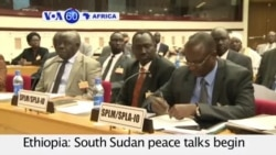VOA60 Africa- Ethiopia: South Sudan peace talks begin with goal to reach a peace deal by August 17- August 7, 2015