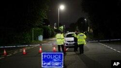 پولیس بریتانیان محل وقوع گلوله باری را مسدود کرده است