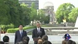 美国总统奥巴马访问广岛