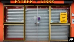 A shop is for sale in Roubaix, northern France, May, 16, 2013.
