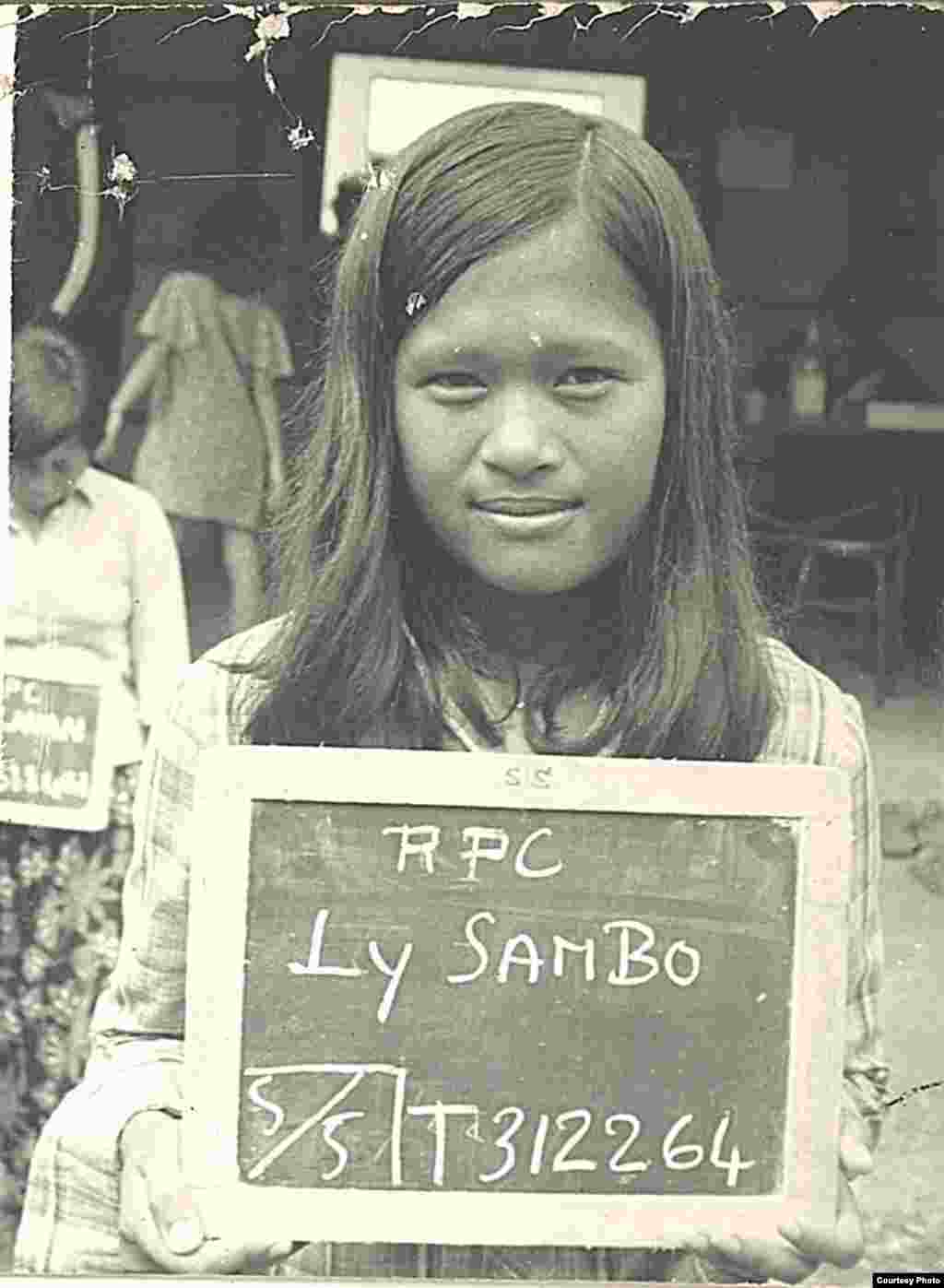 Ly Sambo as a young teenage girl in Khao I-Dang refugee camp along Cambodian and Thai border in early 1980s. (Courtesy Photo)