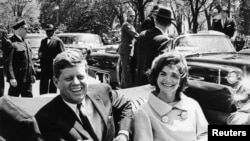Former United States President John F. Kennedy and first lady Jackie Kennedy in Washington on May 3, 1961.