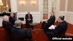 Azərbaycan prezidenti Haaqada ATƏT-in Minsk qrupunun həmsədrləri ilə görüşüb
