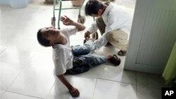 Một trẻ khuyết tật Việt Nam.