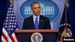 Tổng thống Obama phát biểu về tình hình Iraq tại Tòa Bạch Ốc, ngày 19/6/2014.