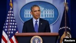 美國總統奧巴馬6月19日在白宮就伊拉克問題發表講話。