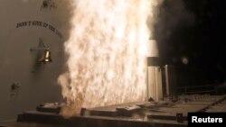 지난 2월 미 해군 소속 구축함 USS 레이크 에리에서 요격용 SM-3 미사일을 발사하고 있다. (자료사진)