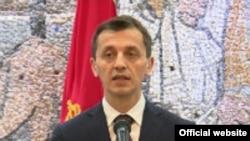 Predrag Boskovic ministar odbrane Crne Gore