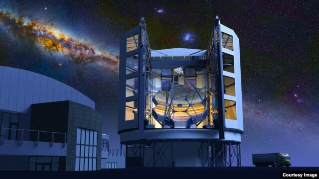 Artist drawing of what the Giant Magellan Telescope will look like when it's completed. (Giant Magellan Telescope–GMTO Corporation)