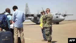 L'armée américaine à l'aéroport de Juba au Soudan du Sud, le 21 décembre 2013. (AFP / Pete Cobus)