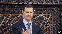 叙利亚总统阿萨德6月3日在大马士革对议会发表演讲