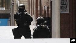 澳大利亚反恐警察在悉尼市中心行动 - 资料