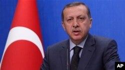 Waziri mkuu wa Uturuki Recep Tayyip Erdogan .