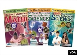 Educational book series presents mysteries for students to solve with math and science skills.