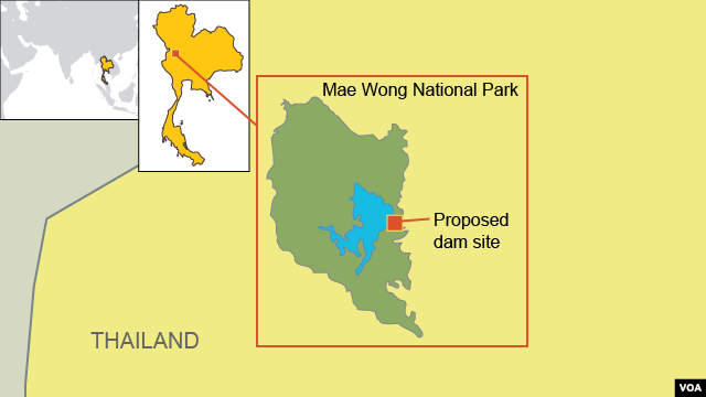 Proposed Dam Site Near Mae Wong National Park,Thailand.