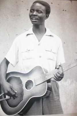 'Genius' Congolese guitarist Jean Bosco Mwenda, in a photo taken in the 1950s by Hugh Tracey