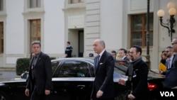 ورود فدریکا موگرینی و وزیران خارجه فرانسه و آلمان به لوزان