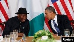Shugaban Najeriya Jonathan da shugaban Amurka Obama