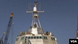 Salah satu kapal tempur littoral AL AS, Trimaran USS Independence.