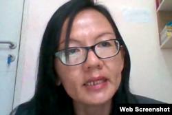 Rina Tjua Lee Na, dari Majelis Rohani Nasional Baha'i Indonesia.(Foto screenshot)