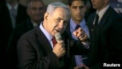Netanyahu habla a seguidores de su partido Likud, en Tel Aviv, cuando faltan solo unos días para las elecciones.