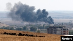 Dim iznad sirijskog grada Kobanija