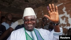 FILE - President Ernest Bai Koroma won re-election in late 2012 with a pledge to fight endemic government corruption.