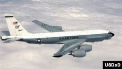 FILE: In April, a Russian fighter jet came within 100 feet of a U.S. Air Force RC-135U spy plane, like the one shown here.
