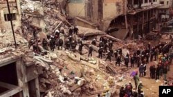 تهقینهوهی خانووبهرهی ڕێکخراوی کولتووری جوولهکان له بۆئنوس ئایرس، ئارژانتین، ساڵی 1994