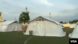Hospital de campanhar em São Tomé e Príncipe sem doentes