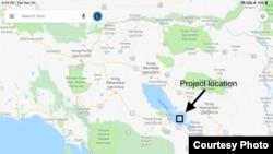 Vị trí dự án và Điện mặt trời nổi
