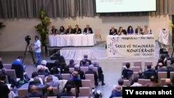 Brüksel'de düzenlenen Barış ve Demokrasi Konferansı'na Belçika'nın yanı sıra Avrupa'nın çeşitli ülkelerinden gelen delegeler katıldı.