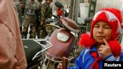 新疆维吾尔自治区街头警察戒备森严