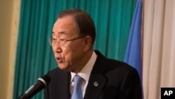 Le secrétaire général de l'ONU Ban Ki-moon, 25 février 2016.