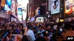 Таймс-сквер. 15 октября 2011 год