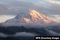 Mount Rainier above the clouds