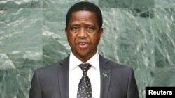 Shugaban Zambia Edgar Lungu