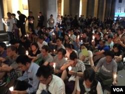 """香港支联会6月29日晚8点在中环终审法院旁空地举行""""释放刘晓波""""烛光集会"""