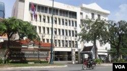 Ministry of Public Works And Transportalong Norodom Boulevard, Phnom Penh, Cambodia on August 8, 2015. (Sou Pisen/ VOA Khmer)