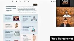 Sholat Jumat Virtual diklaim menghadirkan khutbah dengan tema alternatif. (Foto: VOA)