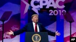 特朗普總統2019年3月2日出席美國保守政治行動大會上發表演說