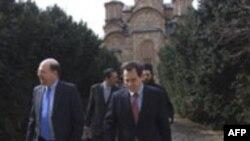 Američki i srpski zvaničnici u Gračanici