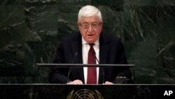 El presidente de irak, Mohamed Fuad Masum, se dirige a la Asamblea General de la ONU en Nueva York.