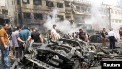 Serangan bom di al-Jadeeda, Baghdad, Irak (9/6).