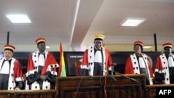 La cour constitutionnelle de Guinée Kelefa Sall, le 31 octobre 2015.