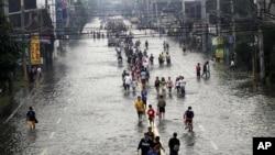 馬尼拉以東洪災的情況