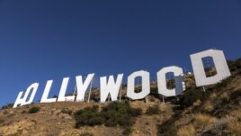The famed Hollywood sign in Los Angeles, California